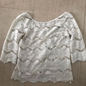 White lace Zara top